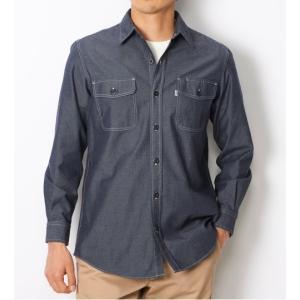 EDWIN シャンブレー 長袖ワークシャツ ET2001-400|maruseru