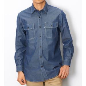 EDWIN シャンブレー 長袖ワークシャツ ET2001-493|maruseru