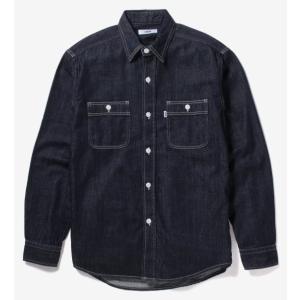EDWIN デニムワークシャツ 長袖/インディゴブルー ET2090-100|maruseru