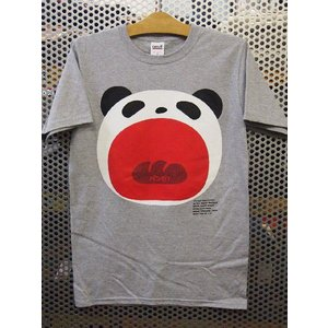 パンダTシャツ/ヘザーグレー|maruseru
