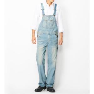 Lee リー LM4254-556 オーバーオール/556淡色ブルー(中古加工)|maruseru