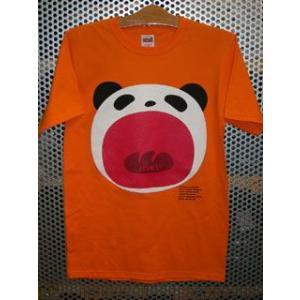 パンダTシャツ/オレンジ|maruseru