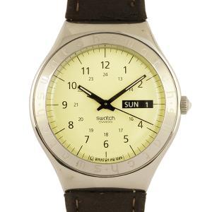 【美品!】スウォッチ swatch アイロニー YGS708 メンズウォッチ   PATENTED WATER RESISTANT クオーツ  日付曜日カレンダー 腕時計 中古|marushin-shichi