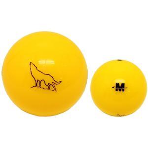 Northway パークゴルフ公認ボール2ピース 「ウルフ」 イエロー|marushinnet