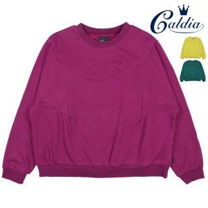 【子供服】 Caldia (カルディア) ママ・大人用爆温裏起毛裏シャギー星切替トレーナー M,L A50661|marutaka-iryo