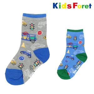 【子供服】 Kids Foret (キッズフォーレ) 車柄クルーソックス・靴下 11cm〜20cm B11352|marutaka-iryo