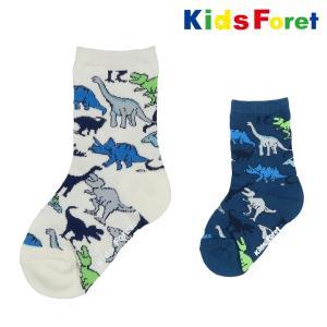 【子供服】 Kids Foret (キッズフォーレ) 恐竜柄クルーソックス・靴下 11cm〜20cm B11353|marutaka-iryo