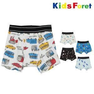 【子供服】 Kids Foret (キッズフォーレ) 総柄ボクサーパンツ・下着 100cm〜130cm B11750|marutaka-iryo