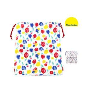 【子供服】 moujonjon (ムージョンジョン) 総柄巾着・きんちゃく袋 Lサイズ L B17634|marutaka-iryo