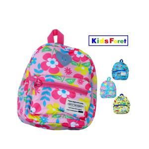 【子供服】 Kids Foret (キッズフォーレ) 働く車・花柄撥水ボンディングリュック S〜L B17641|marutaka-iryo