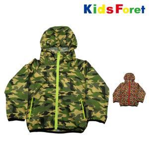 【子供服】 Kids Foret (キッズフォーレ) 撥水総柄ジャケット・パーカー 90cm〜130cm B37841|marutaka-iryo