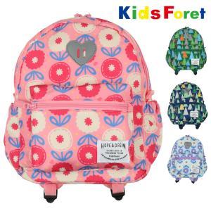 【子供服】 Kids Foret (キッズフォーレ) お花・森の動物柄撥水ボンディングリュック S〜L B51611|marutaka-iryo