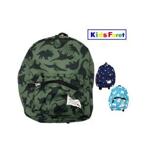 【子供服】 Kids Foret (キッズフォーレ) 恐竜・星・シロクマ総柄リュック S〜L B55662|marutaka-iryo