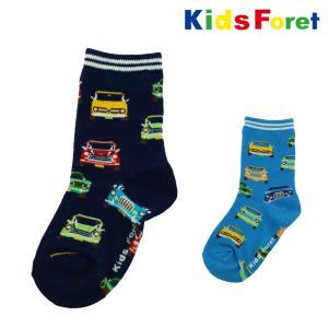 【子供服】 Kids Foret (キッズフォーレ) 車柄クルーソックス・靴下 11cm〜20cm B57330|marutaka-iryo