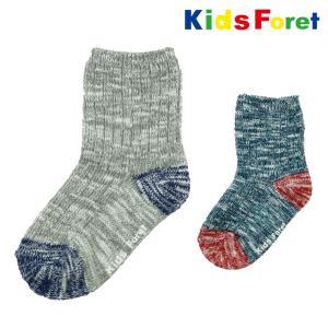 【子供服】 Kids Foret (キッズフォーレ) スラブローゲージクルーソックス・靴下 14cm〜20cm B57362|marutaka-iryo