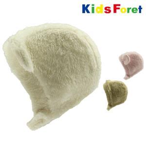 【子供服】 Kids Foret (キッズフォーレ) ボア耳付帽・帽子 46cm,49cm B57430|marutaka-iryo