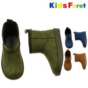 【子供服】 Kids Foret (キッズフォーレ) ムートン風レインシューズ・長靴 14cm〜18cm B57541|marutaka-iryo