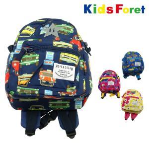 【子供服】 Kids Foret (キッズフォーレ) 車・お花柄撥水ボンディングリュック M〜S B57630|marutaka-iryo