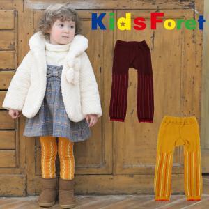 【子供服】 Kids Foret (キッズフォーレ) フロート編ストライプ柄レギンス 75cm〜135cm B57842 marutaka-iryo