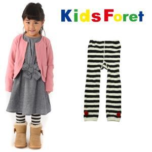 【子供服】 Kids Foret (キッズフォーレ) ケーブルボーダーレギンス 75cm〜135cm B57844 marutaka-iryo