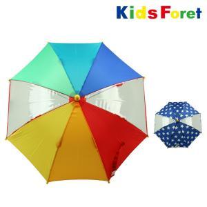 【子供服】 Kids Foret (キッズフォーレ) 星レインボー窓付かさ・傘 SS〜M B81811|marutaka-iryo