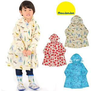 【子供服】moujonjon (ムージョンジョン) 動物・お花総柄レインコート S〜L B81840|marutaka-iryo
