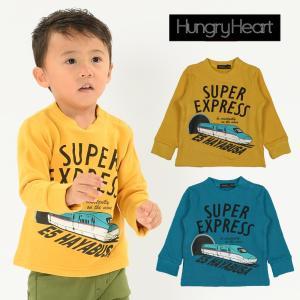 子供服 Hungry Heart ハングリーハート 新幹線はやぶさ電車プリントトレーナー 80cm〜130cm K50605|marutaka-iryo
