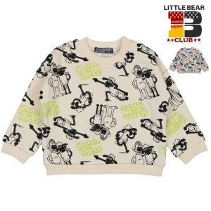 【子供服】 Little Bear Club (リトルベアークラブ) ひつじのショーン総柄トレーナー 80cm〜130cm K50660|marutaka-iryo