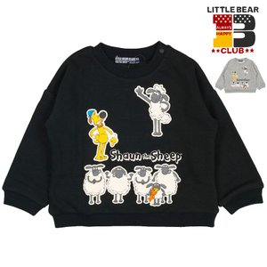 【子供服】 Little Bear Club (リトルベアークラブ) ひつじのショーンキャラトレーナー 80cm〜130cm K50661|marutaka-iryo