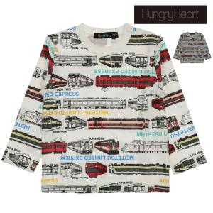 【子供服】 Hungry Heart (ハングリーハート) 日本製名鉄電車総柄Tシャツ 90cm〜130cm K50811|marutaka-iryo