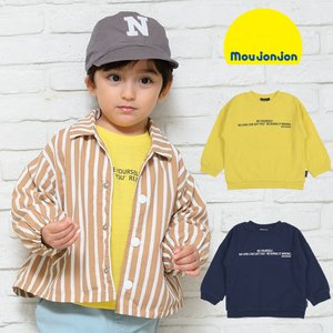 【子供服】 moujonjon (ムージョンジョン) ロゴプリントライン入りサーマルTシャツ 80cm〜140cm M12803 marutaka-iryo