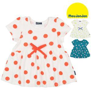 【子供服】 moujonjon (ムージョンジョン) ドット柄フレアー半袖Tシャツ 80cm〜140cm M32870|marutaka-iryo