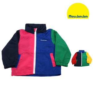 【子供服】 moujonjon (ムージョンジョン) クレージー配色ジャケット・パーカー 80cm〜130cm M36101|marutaka-iryo