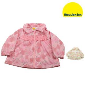 【子供服】 moujonjon (ムージョンジョン) 水彩花柄ナイロンジャケット・パーカー 80cm〜130cm M36103|marutaka-iryo