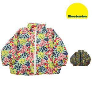 【子供服】 moujonjon (ムージョンジョン) 小花柄ナイロンジャケット・パーカー 80cm〜130cm M36104|marutaka-iryo
