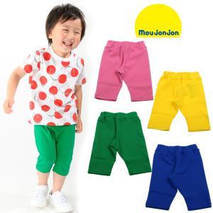 【子供服】 moujonjon (ムージョンジョン) 日本製リップルフライス6分丈パンツ 80cm〜130cm M37182|marutaka-iryo