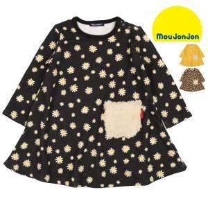 【子供服】 moujonjon (ムージョンジョン) 裏シャギー爆温裏起毛小花柄ワンピース 80cm〜140cm M50371|marutaka-iryo