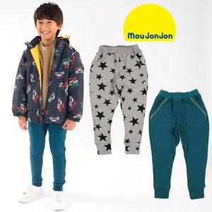 【子供服】 moujonjon (ムージョンジョン) 爆温裏起毛裏シャギー星柄・無地パンツ 80cm〜140cm M51048|marutaka-iryo