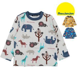 【子供服】 moujonjon (ムージョンジョン) 日本製動物総柄Tシャツ 80cm〜130cm M60811|marutaka-iryo