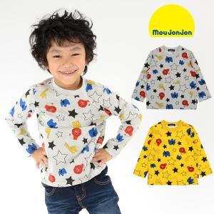 SALE 子供服 moujonjon (ムージョンジョン) ネット限定日本製星アニマル柄Tシャツ 80cm〜130cm M60853 限定販売|marutaka-iryo