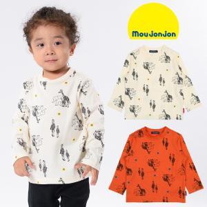 【子供服】 moujonjon (ムージョンジョン) 限定発売日本製動物柄プリントTシャツ 80cm〜130cm M60854|marutaka-iryo