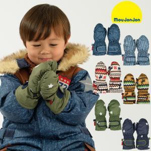 【子供服】 moujonjon (ムージョンジョン) デニム風・ノルディック・星柄スノーグローブ・手袋 S,M M61891|marutaka-iryo