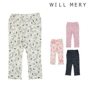 【子供服】 Will Mery (ウィルメリー) ストレッチ裏毛花柄パンツ 80cm〜130cm N21054|marutaka-iryo