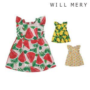 6ba427f2b40b8  子供服  Will Mery (ウィルメリー) スイカ・バナナ・フルーツ柄ワンピース 80cm〜130cm N40361