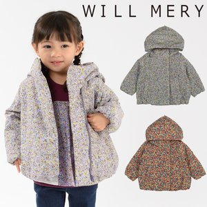 【子供服】 Will Mery (ウィルメリー) ポリエステル小花柄中綿ジャケット 80cm〜130cm N60108 marutaka-iryo