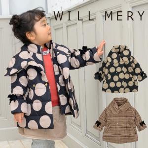 【子供服】 Will Mery (ウィルメリー) 袖リボン付きポリエステル防風中綿ジャケット 80cm〜140cm N60112 marutaka-iryo
