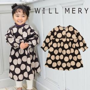 【子供服】 Will Mery (ウィルメリー) 薄コール天ドット柄ワンピース 80cm〜130cm N60317 marutaka-iryo