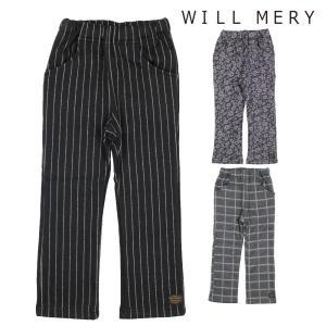 【子供服】 Will Mery (ウィルメリー) 裏シャギー爆温裏起毛総柄パンツ 80cm〜140cm N61033|marutaka-iryo