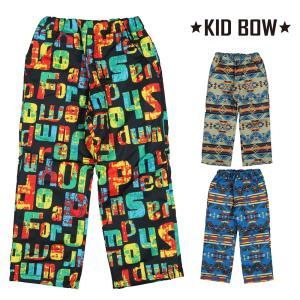 【子供服】 KID BOW (キッドバウ) エステルオックスデニム風ロゴ柄スノーパンツ 80cm〜130cm N97053|marutaka-iryo