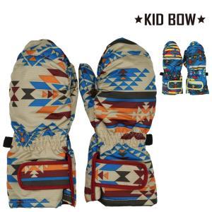 子供服 KID BOW キッドバウ 防水加工オルテガ柄エステル手袋・スノーグローブ・ミトン S,M N97857|marutaka-iryo